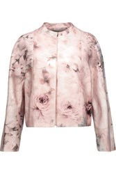 Valentino Printed Cotton And Silk Blend Jacket Pastel Pink