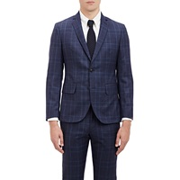 Brooklyn Tailors Glen Plaid Two Button Sportcoat Dk. Blue