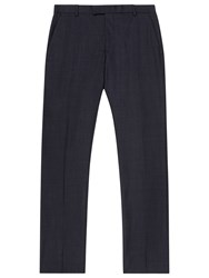 Reiss Brill Wool Modern Fit Suit Trousers Navy