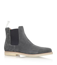 Common Projects Suede Chelsea Boots Male Grey