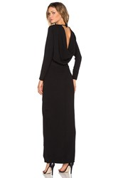 Twin Sister Longsleeve Maxi Dress Black