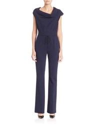 Escada Jersey Cowlneck Jumpsuit Midnight