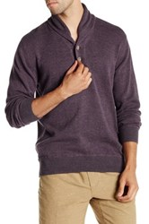 Agave Harrison Long Sleeve Shawl Collar Fine Pullover Purple