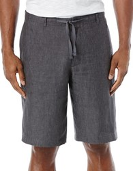 Perry Ellis Linen Drawstring Shorts Slate