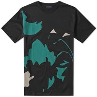 Lanvin Abstract Floral Print Tee Black