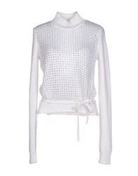 Who S Who Knitwear Turtlenecks Women White