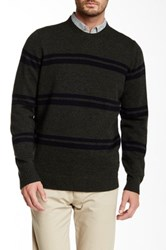 Ben Sherman The Striped Crew Neck Sweater Green