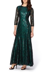 Tahari Women's Sequin Lace Mermaid Gown