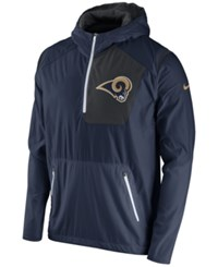 Nike Men's Los Angeles Rams Vapor Speed Fly Rush Hooded Jacket Anthracite White Gold