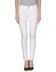 Brian Dales Denim Pants White