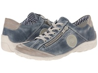 Rieker R3408 Liv 08 Steel Royal Women's Flat Shoes Gray