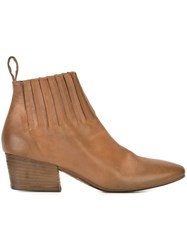 Marsell Fringe Detail Ankle Boots Brown