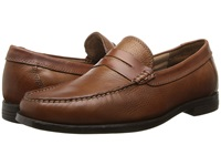 Florsheim Cricket Penny Cognac Milled Men's Slip On Dress Shoes Brown