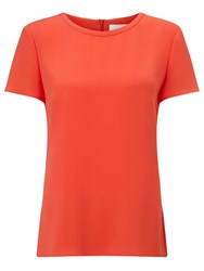 Boss Logo Boss Scoop Neck Top Red