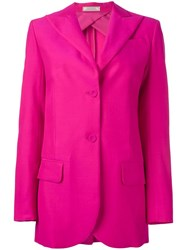 Nina Ricci Double Button Blazer Pink Purple