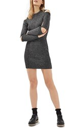 Topshop Women's Slash Ribbed Sweater Dress
