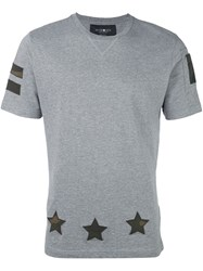 Hydrogen Star Print T Shirt Grey