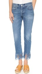 3X1 Wm3 Straight Crop Fringe Jeans Stella