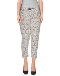 Tanomu Ask Me Trousers 3 4 Length Trousers Women White