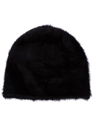 Reinhard Plank Rabbit Fur Beanie Hat Black