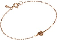 Fabrizio Riva Brown Diamond And Rose Gold Heart Bracelet Colorless