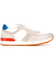 Eleventy Panelled Sneakers White
