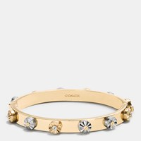 Coach Daisy Rivet Hinged Bangle Silver Gold