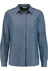 American Vintage Olatha Cotton Blend Shirt Blue