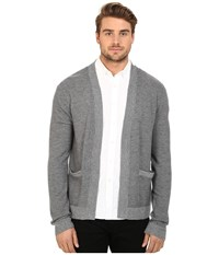 Joe's Jeans Sebastian Cardigan Heather Charcoal Men's Sweater Gray
