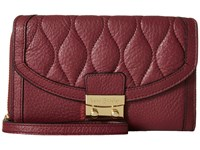 Vera Bradley Ultimate Wristlet Claret Clutch Handbags Red