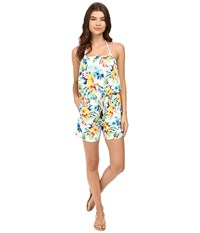 Tommy Bahama Fleur De Lite Strapless Romper Cover Up Multicolor Women's Jumpsuit And Rompers One Piece