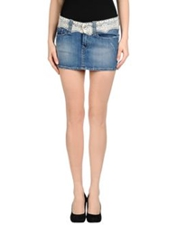 Fornarina Denim Skirts Blue