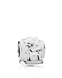 Pandora Design Pandora Charm Sterling Silver And Enamel Snow Globe Moments Collection Silver White