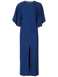 Adam By Adam Lippes Adam Lippes Flounce Sleeve Shift Dress Blue