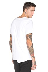 Public School Asymmetrical Back T Shirt White
