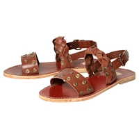 H By Hudson Axis Leather Sandals Tan