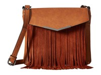 French Connection Lola Crossbody Nutmeg Nutmeg Suede Cross Body Handbags Brown