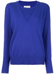 Maison Martin Margiela Layered Pullover Sweater Blue