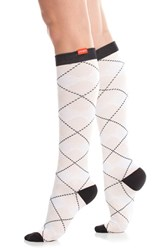 Women's Vim And Vigr Argyle Graduated Compression Trouser Socks