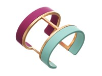 Vince Camuto Two Color Dipped Cuff Bracelet Burnt Rose Gold Fuchsia Light Blue Bracelet