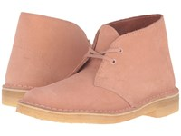 Clarks Desert Boot Dusty Pink Suede Women's Lace Up Boots Brown