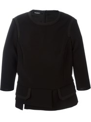 Neil Barrett Layered Hem Sweater Black