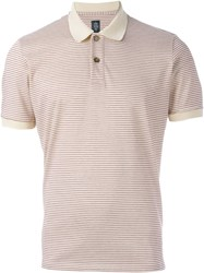 Eleventy Striped Polo Shirt Nude And Neutrals