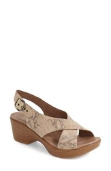 Women's Dansko 'Jacinda' Sandal Taupe Snake Leather