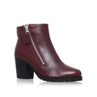Kurt Geiger Sweep High Heel Ankle Boots Red