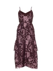Erdem Justina Posey Fil Coupe Silk Chiffon Gown