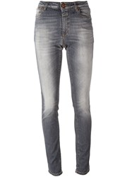 Closed High Waist Skinny Jeans Grey