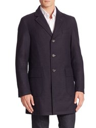Sanyo Wool Cashmere Blend Water Repellant Jacket Midnight