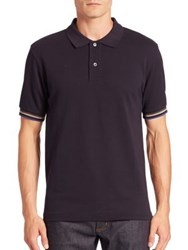 Acne Studios Short Sleeve Polo Shirt Navy