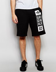 Adidas Originals Sweat Shorts With Street Graphic Aj7634 Black